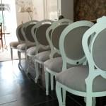 Landelijke stoelen na