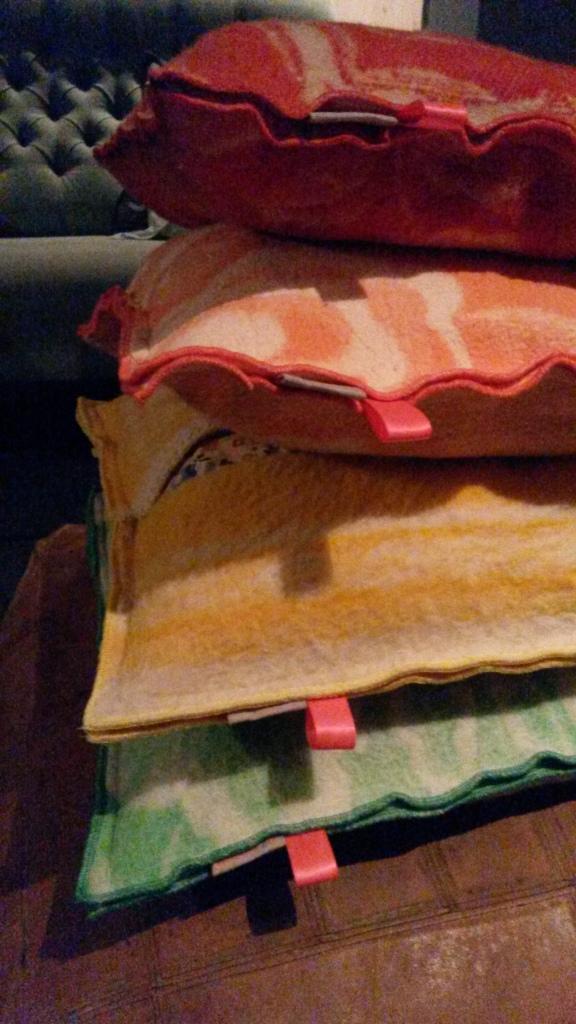 Wollen deken kussens